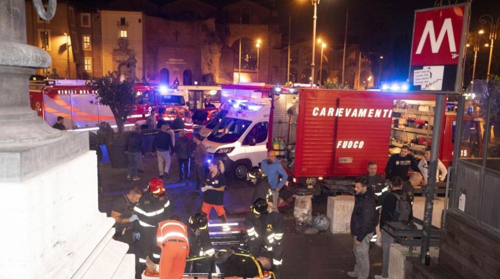 Инцидент в метрото в Рим, има пострадали (ВИДЕО)