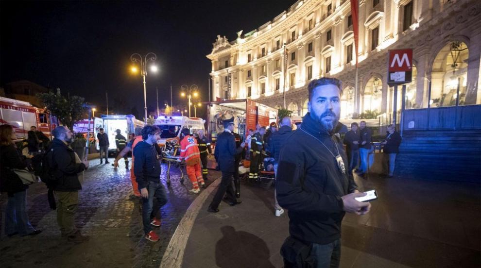 Инцидент с ескалатор в метрото на Рим, има пострадали (ВИДЕО/СНИМКИ)