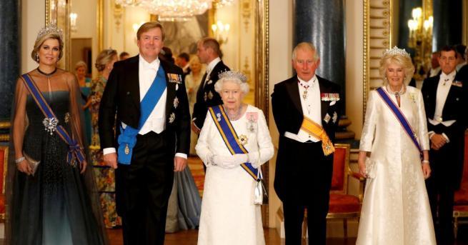 Британската кралица Елизабет Втора посрещна краля и кралицата на Холандия,