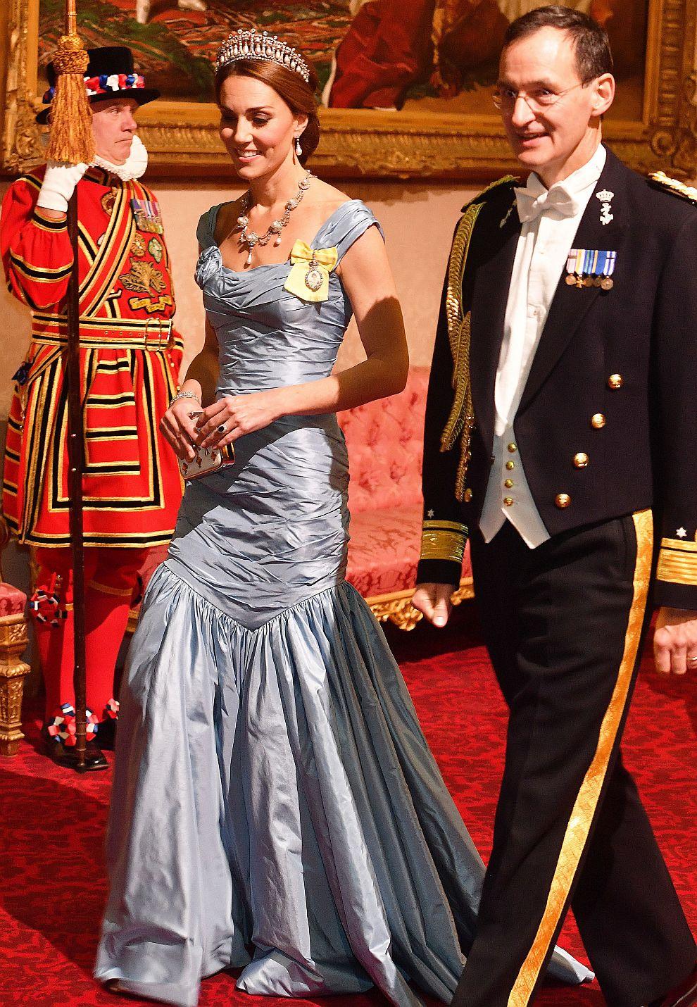 Херцогиня Катрин и адмирал Лудгер Брумелар