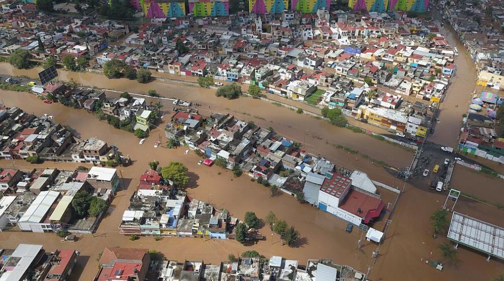 """Ураганът """"Уила"""" удари Мексико – събори дървета, лампи, стълбове, стени"""