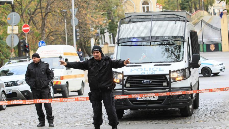<p>Вдигнаха бомбата от центъра на София</p>