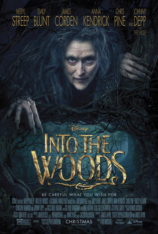 """4. Into The Woods / """"Вдън горите"""" – 2014; Режисьор: Роб Маршал; Участват: Джеймс Кордън, Емили Блънт, Мерил Стрийп"""