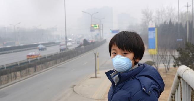 Днес в някои райони на китайската столица средната дневна концентрация