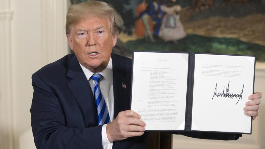 САЩ връща санкциите срещу Иран, 8 страни са изключени