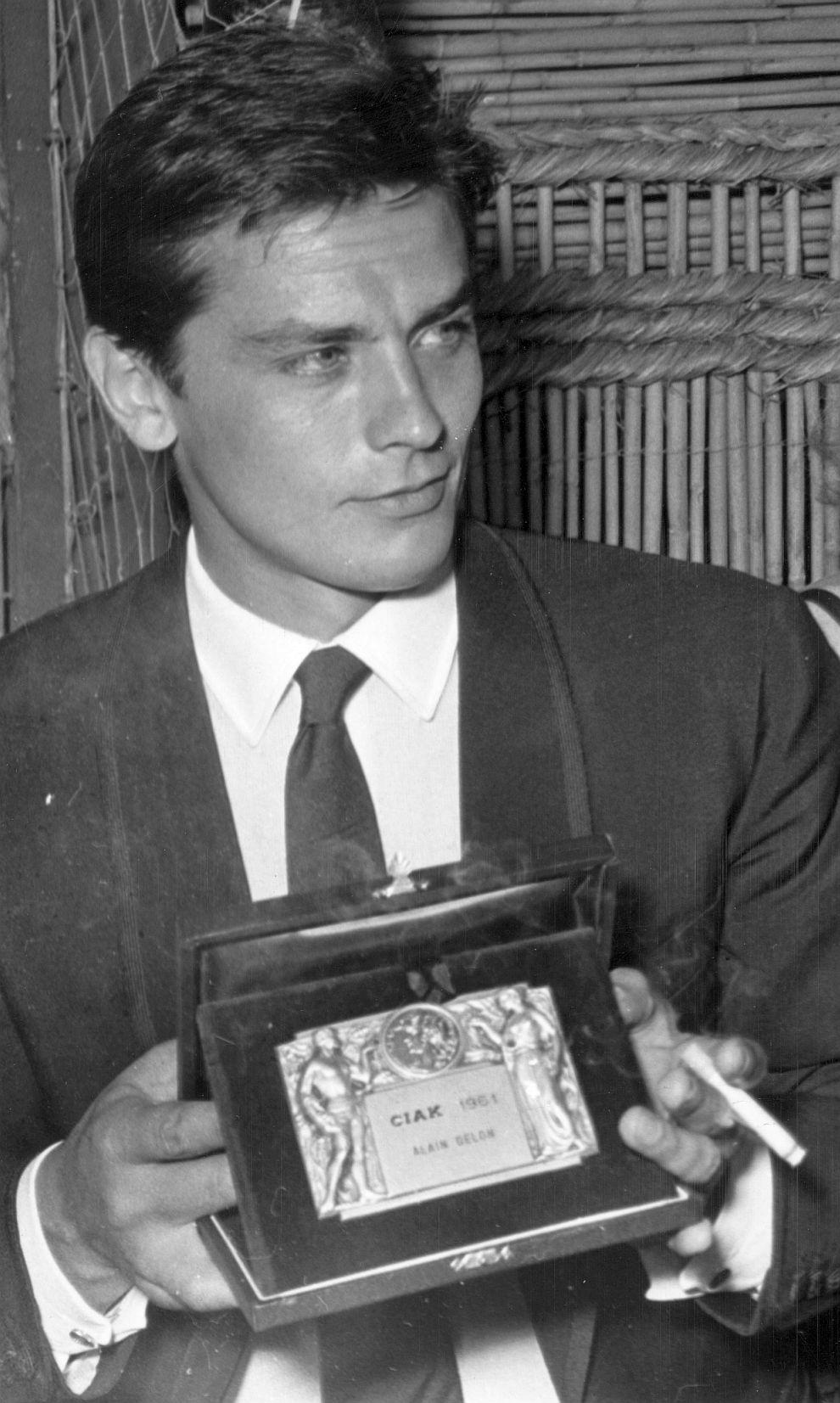 Ален Делон с награда за най-добър актьор в Рим, 1961 година