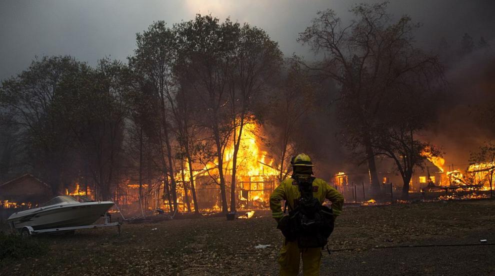 Огнен ад в Калифорния, стотици постройки са изпепелени (СНИМКИ)