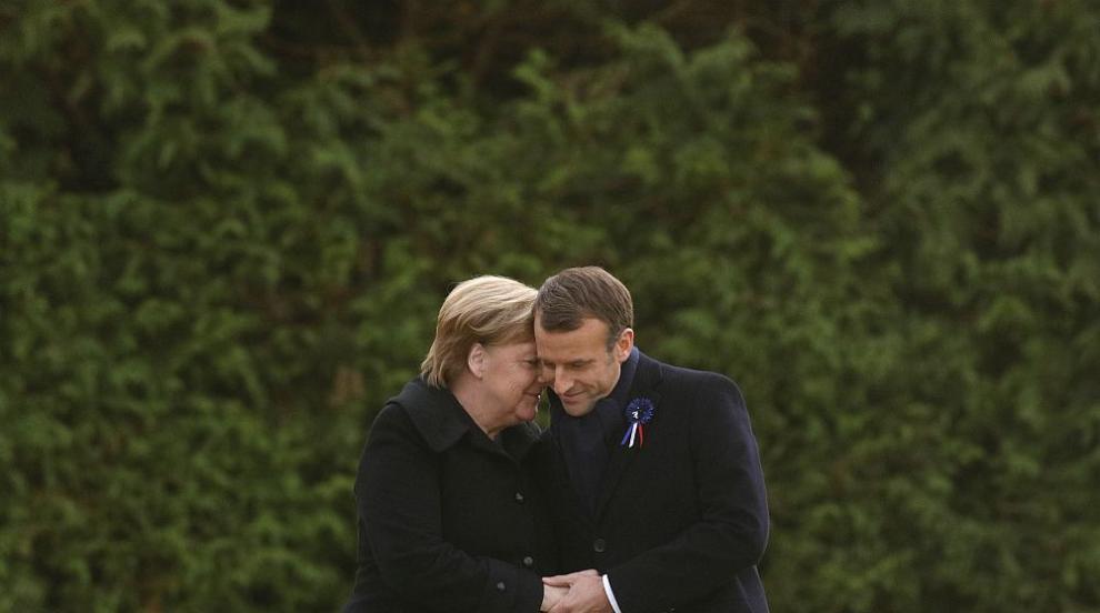 Макрон и Меркел откриха паметна плоча за 100-годишнината от края на Първата...