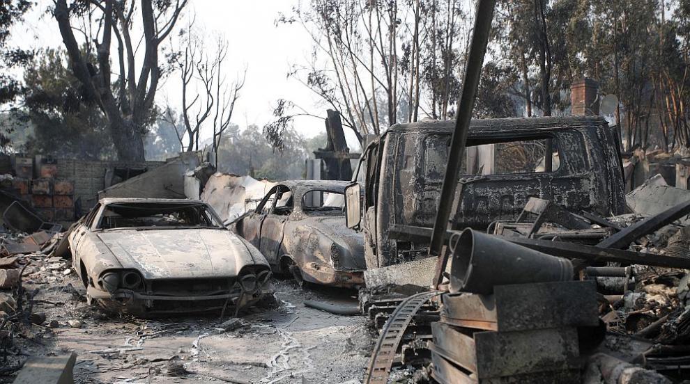 Жертвите на огненото бедствие в Калифорния се увеличават