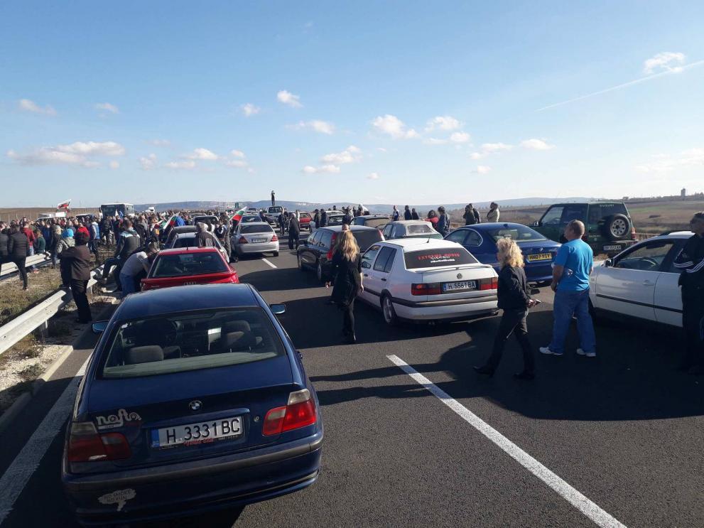 Протестиращи блокираха магистрала Хемус