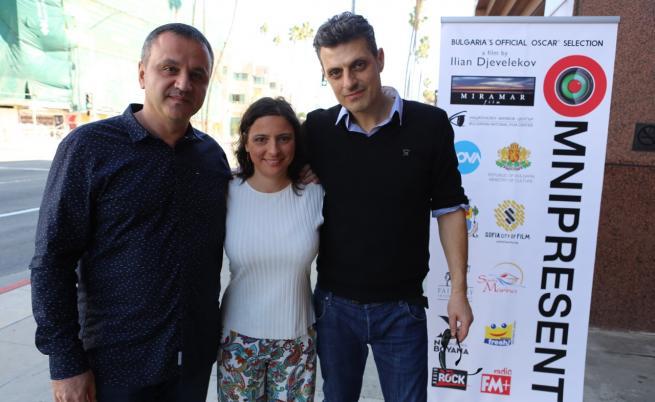Director of Ilian Djevelekov, actor Velislav Pavlov and Mila Voynikova of the production team