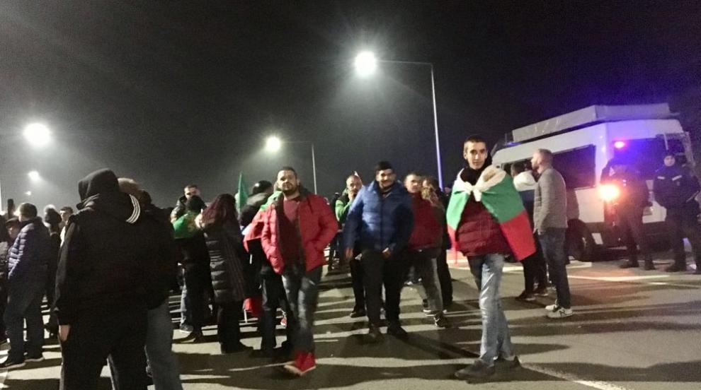 """Протест блокира пътен възел """"Даскалово"""" (ВИДЕО)"""