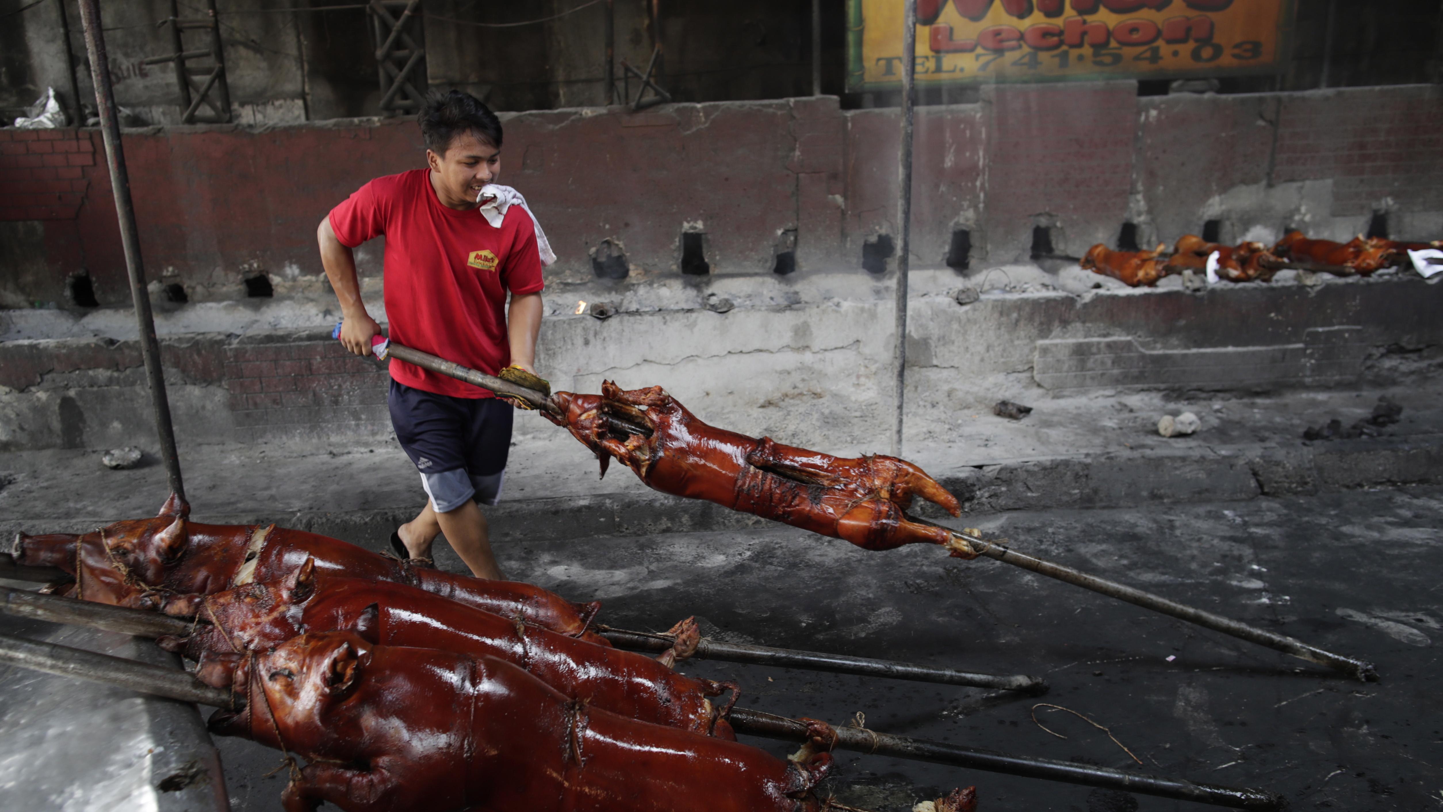 Цели печени прасенца сукалчета са популярни във Филипините.