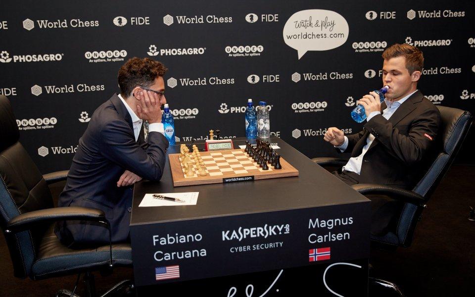 Невероятно: Реми и в 11-ата партия между Карлсен и Каруана
