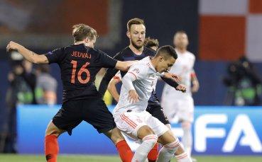 На живо: Светкавична размяна на голове на Хърватия - Испания