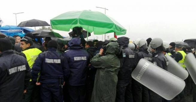 Лидерът на протестите в Благоевград – Александър Стамболийски, който участва