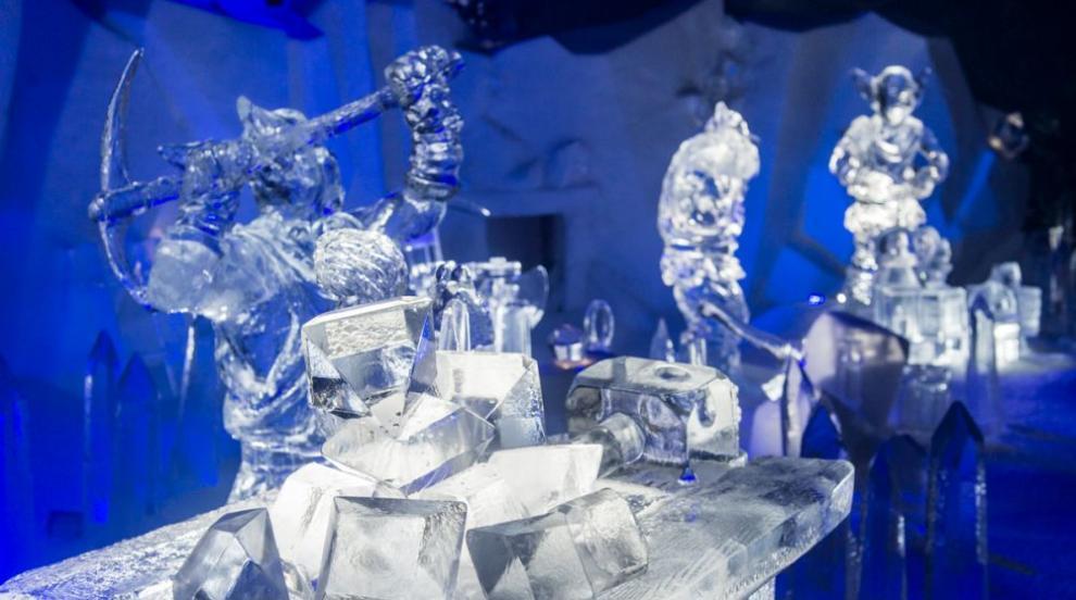 Гигантски ледени скулптури оживяват на фестивал в Белгия (СНИМКИ)