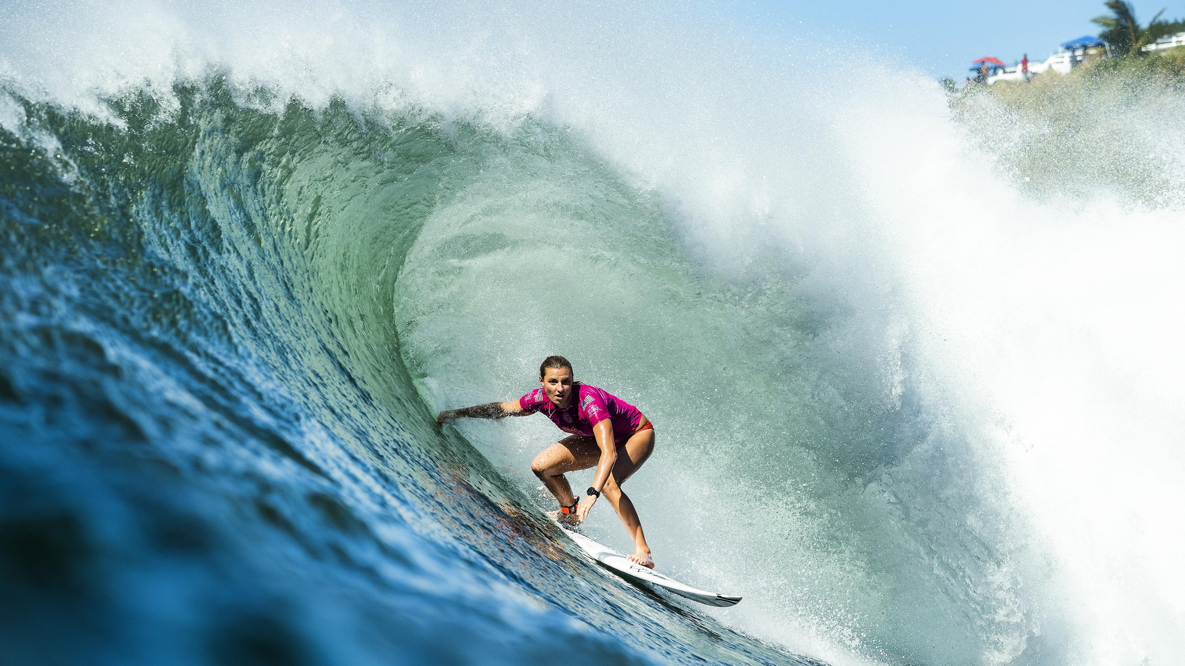 Турнира Beachwaver Maui Pro 2018, част от Световната Сърф Лига в Хаулуа Бей, Хаваи, САЩ.
