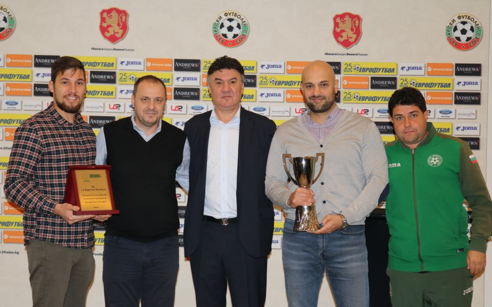 Президентът на БФС награди световните вицешампиони по Футбол 5