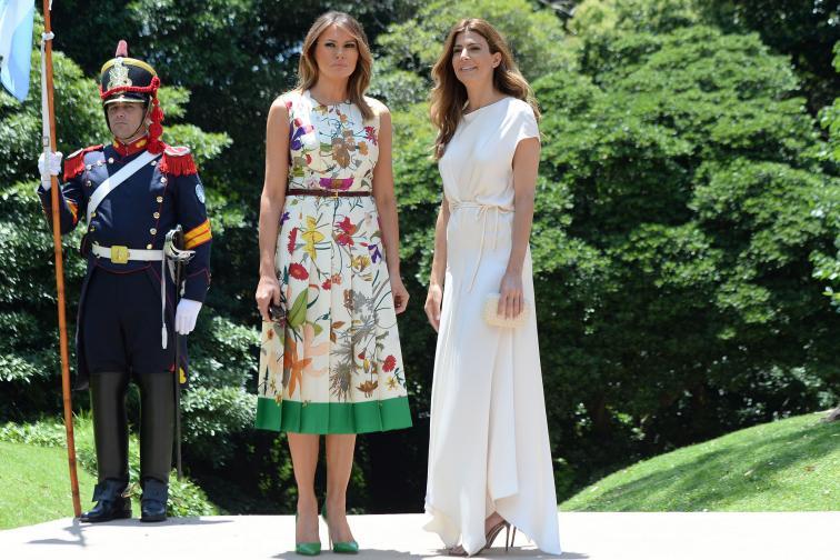 В компанията на Мелания Тръмп по време на срещата на Г-20 в Буенос Айрес