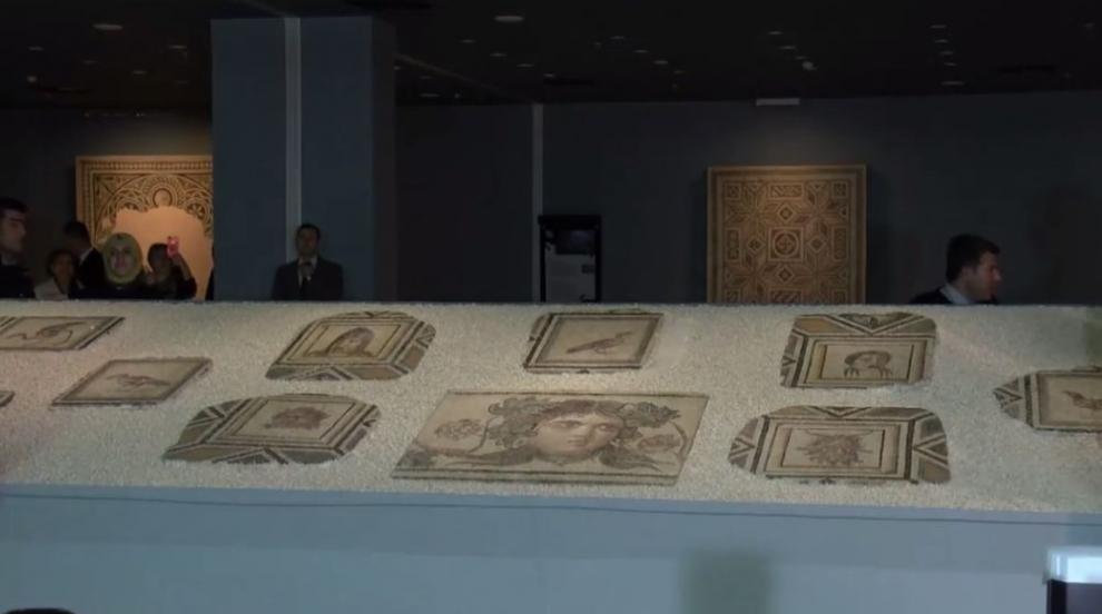 В Турция показаха прочута антична мозайка след реконструкцията й (ВИДЕО)