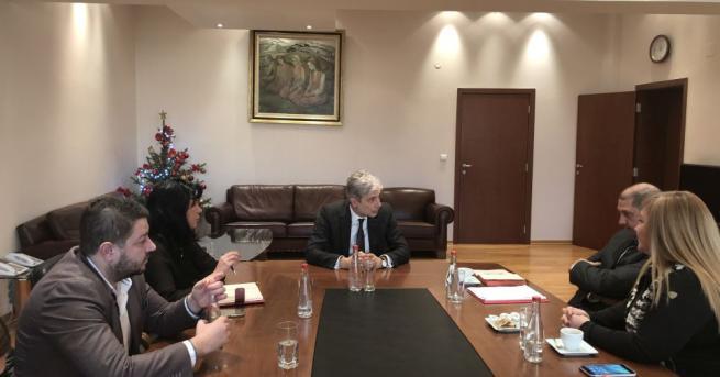 Министърът на околната среда и водите Нено Димов проведе среща