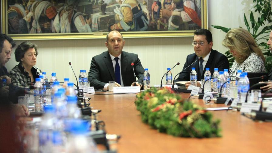 Дискусията при президента Румен Радев