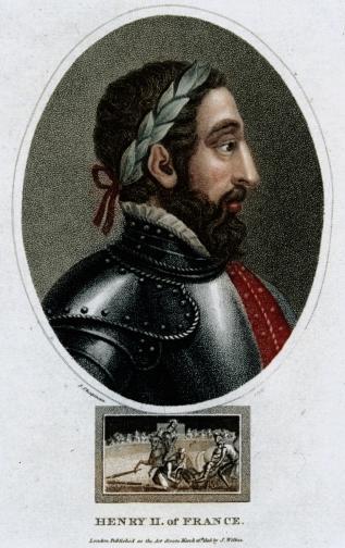 Смъртта на Анри II, крал на Франция. В стиха на Нострадамус се казва, че младият лъв ще погуби стария, който ще умре в страшни мъки. Крал Анри е убит от негов придворен по време на рицарски двубой. Копието на противника на краля минава през окото му и Анри агонизира 10 дни преди да издъхне. И двамата мъже са носели щитове с лъвове.