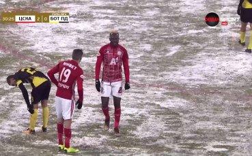 Първата жертва на лошия терен падна, ЦСКА загуби голмайстора си