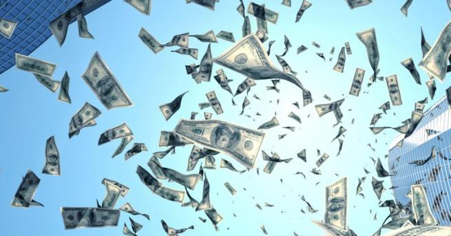 От небето падаха пари вчера в един от популярните квартали