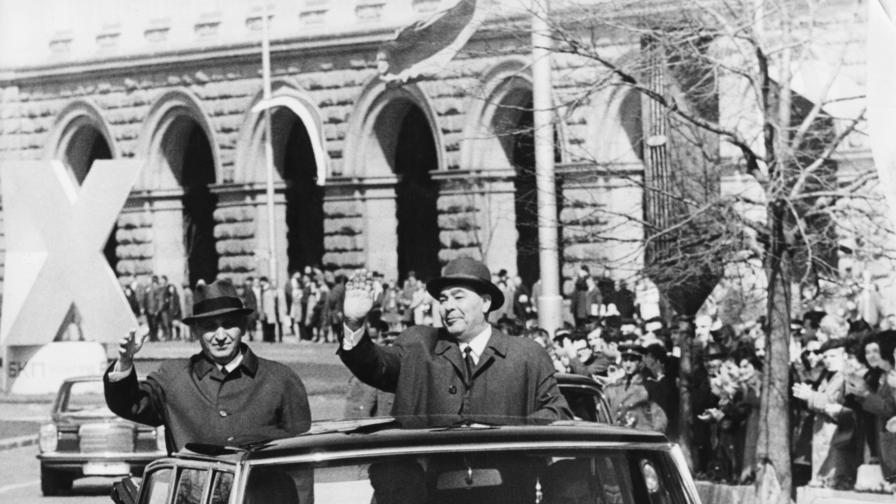 Тодор Живков, Леонид Брежнев, София, 1971 г.