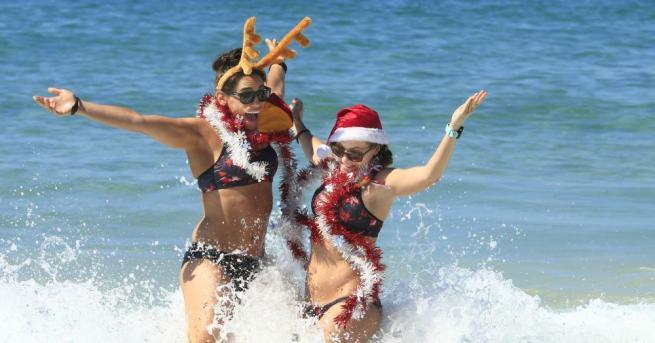 На Коледа в Австралия често е много горещо. За австралийците