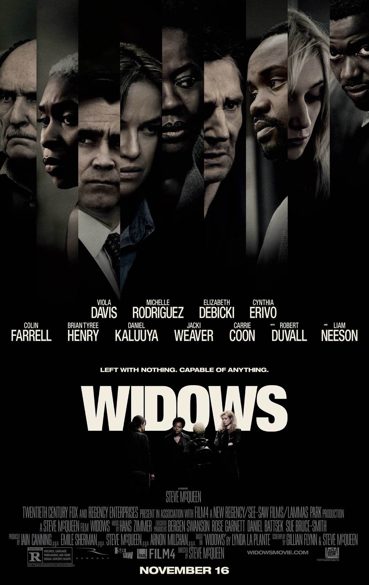 "4. Widows / ""Вдовици"" – Режисьор: Стив МакКуийн; Участват: Виола Дейвис, Лиам Нийсън, Колин Фарел"