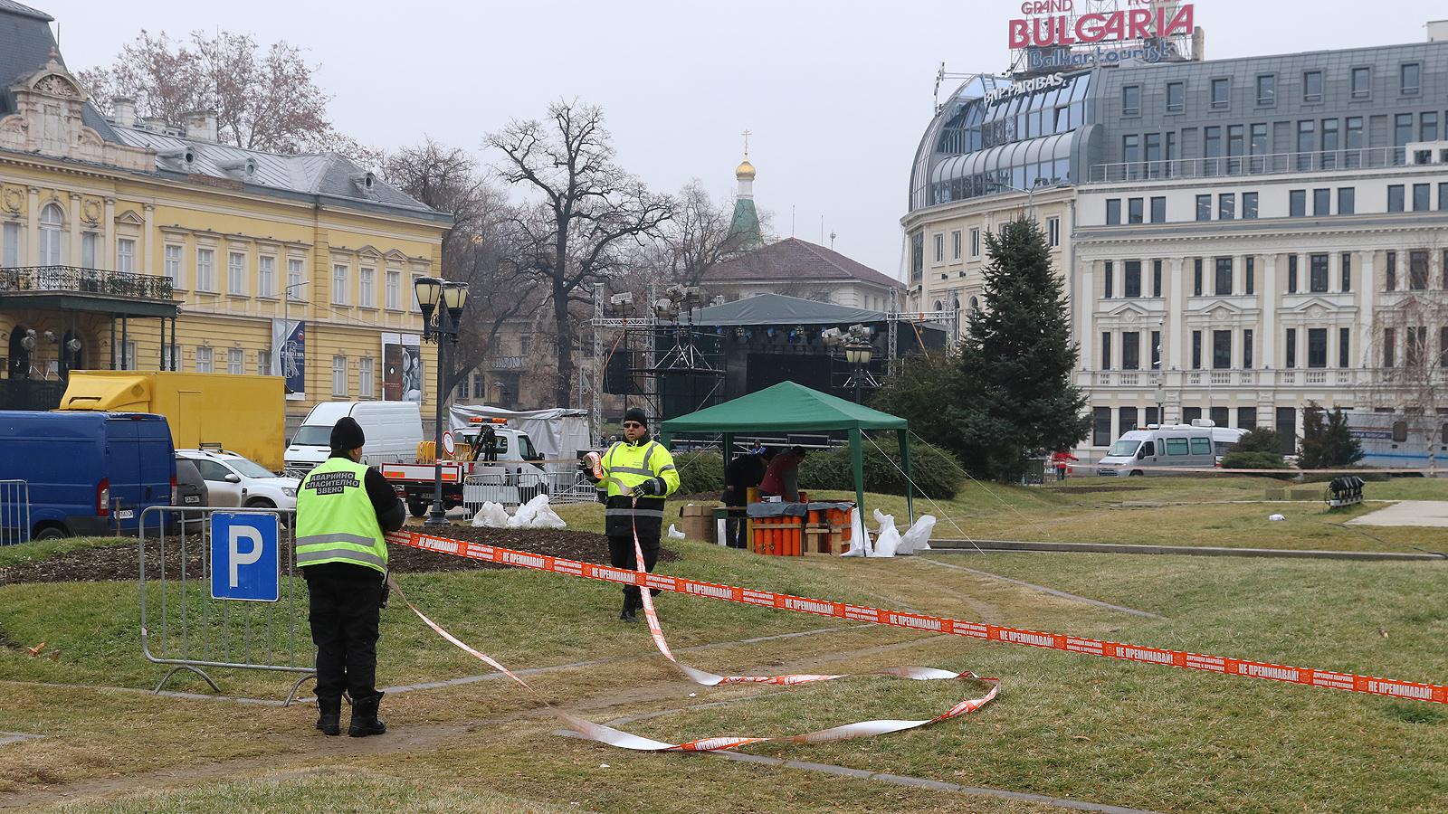 """8 контролни пункта ще бъдат изградени за новогодишния концерт """"Сцена под звездите"""" тази вечер в София."""