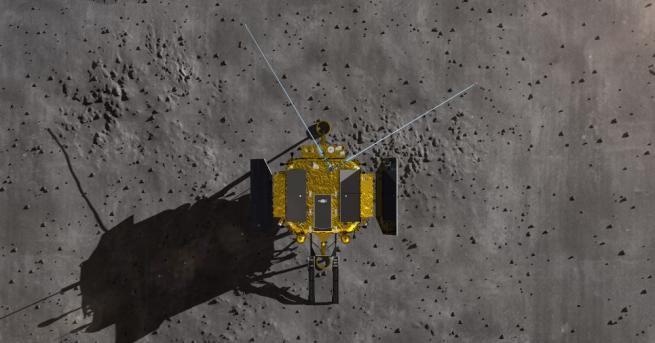 Снимка: Студената лунна нощ погуби първото растение, поникнало на Луната