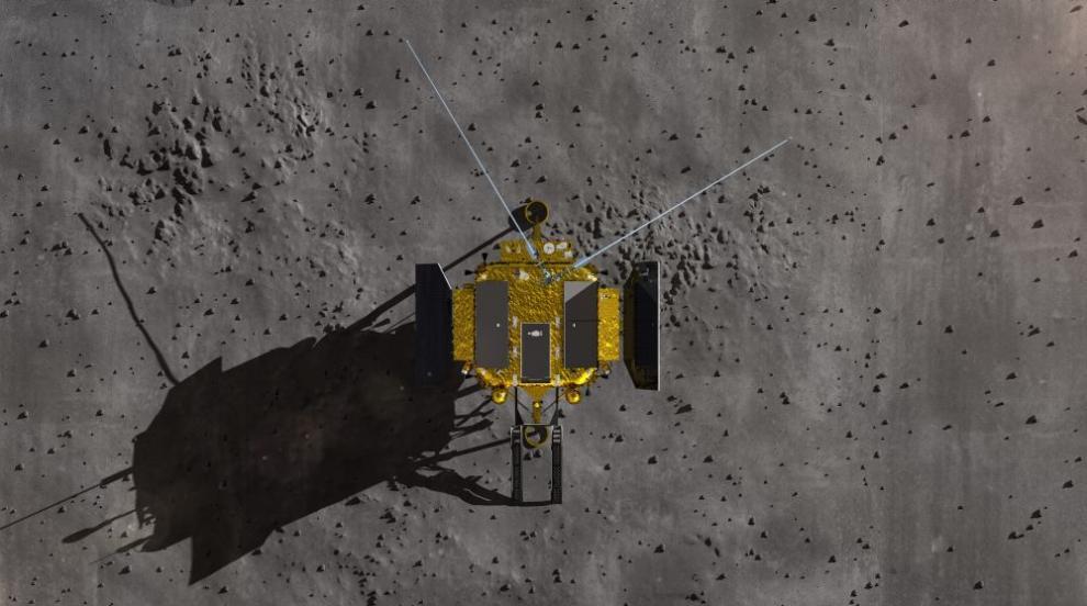 Студената лунна нощ погуби първото растение, поникнало на Луната