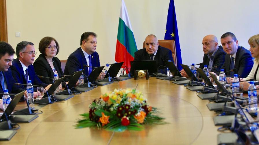 Бойко Борисов на срещата със Сдружението на общините в Министерски съвет