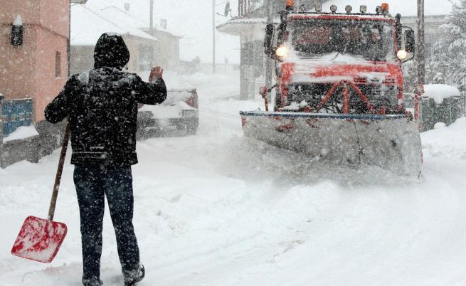 Снежно бедствие в Гърция