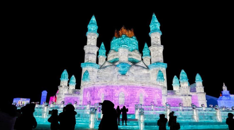 Най-големият фестивал за ледени скулптури беше открит в Китай (ВИДЕО)