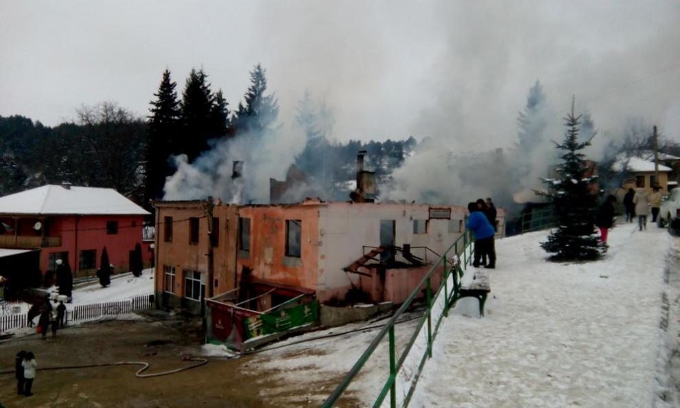пожар село Скребатно
