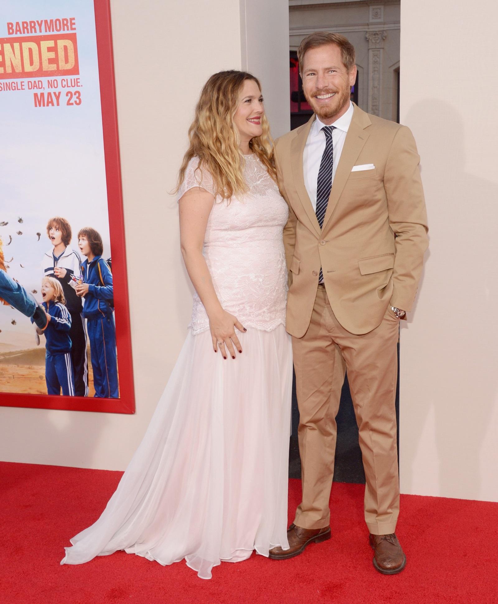 Дрю Баримор с бившия си съпруг (2014)