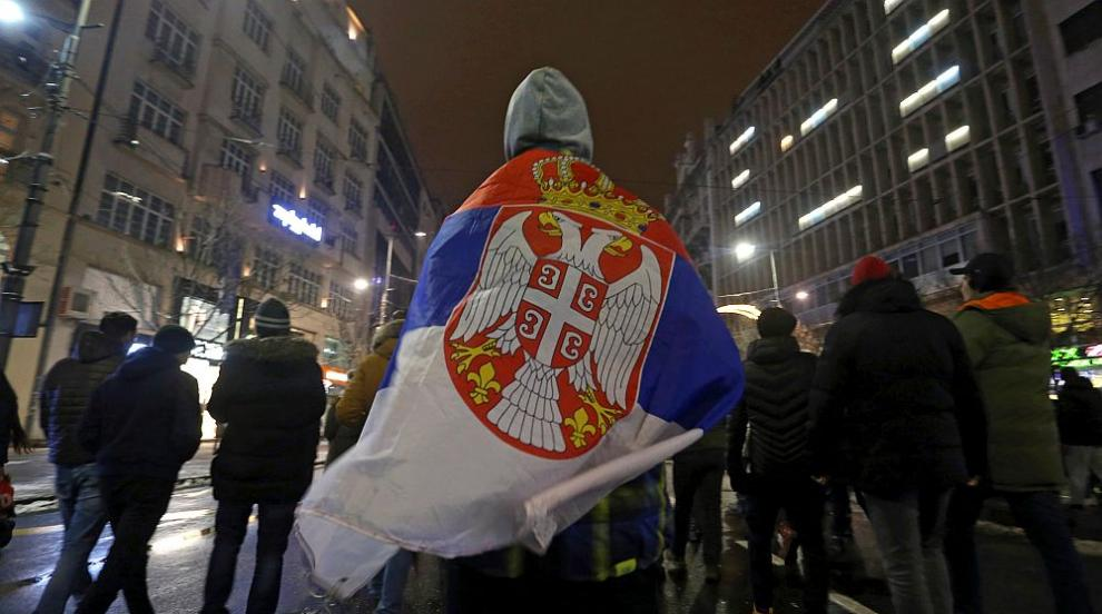 Десетки ранени при протестите в Белград снощи