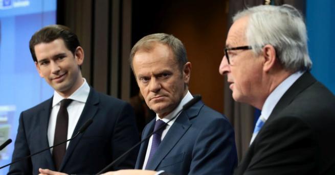 Лидерите на Европейския съюз с мигновени реакции, след като британският