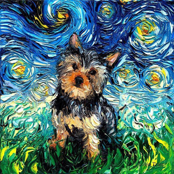 6. Затрудняваш ли се да намериш вдъхновение и какво правиш в такива моменти?<br /> - Преди - да. Сега – не толкова. Да имаш ясни проекти помага. Рисуването на различни породи кучета например ми предоставя безкрайни възможности. До момента съм нарисувала около 30, което означава, че имам още дълъг път преде себе си с проекта.