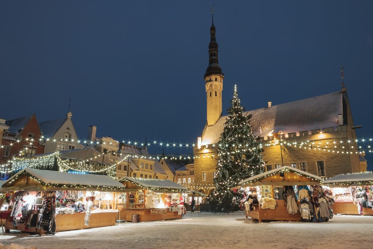 Талин, Естония. Там светлата част на деня там през декмември е 6 часа и 3 минути.