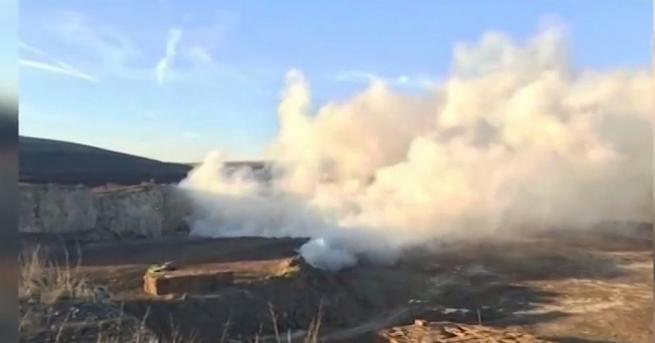 Снимка: Пожар в хранилище на химическия завод в Девня