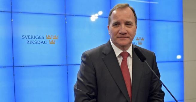 Шведският парламент преизбра днес лидера на социалдемократите Стефан Льовен за