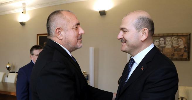Снимка: Какво важно си казаха Бойко Борисов и министърът на вътрешните работи на Турция?