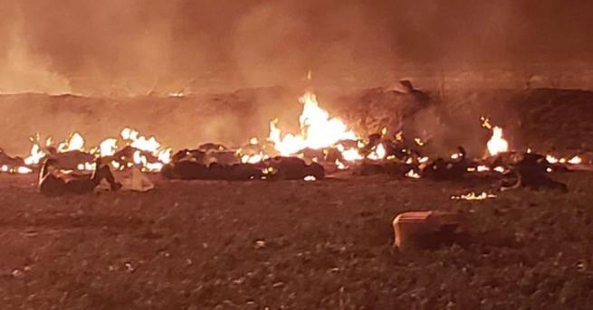 Угасен е пожарът, избухнал на мястото на взрива на тръбопровод