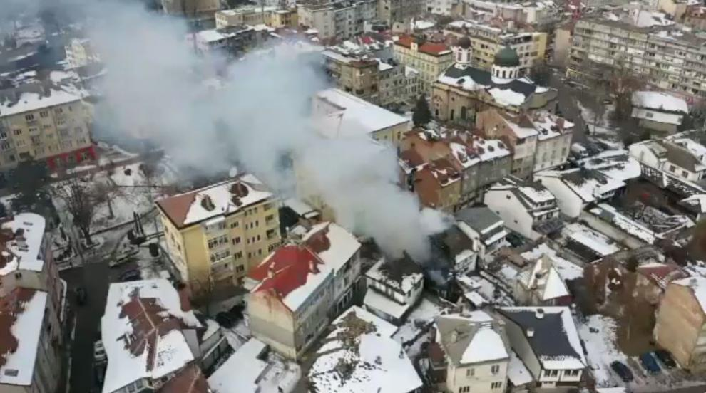 Голям пожар в Шести участък в Габрово, горяха три къщи